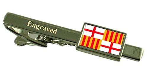 Select Gifts La ciudad de Barcelona Clip de corbata Bandera España grabado en bolsa