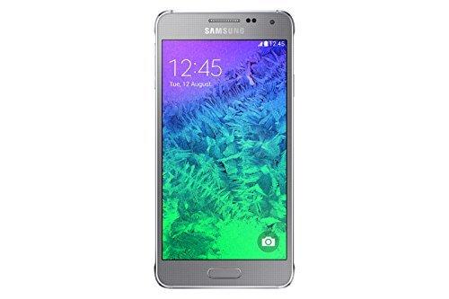 Samsung Galaxy Alpha Smartphone (11,90 cm (4,7 Zoll) Super-AMOLED-Display, Octa-Core-Prozessor, 12-Megapixel-Kamera, Android 4.4) silber (Generalüberholt)