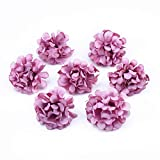 UKKO Flor Artificial 10 Buques De Mano para Accesorios De Seda De Novia Flores Artificiales Decoración De La Boda De Bricolaje Clavel C