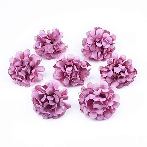 10 stuks handwerk vazen voor huisdecoratie bruiloft bruids accessoires klaring diy ambachten zijde anjer kunstbloemen, 3