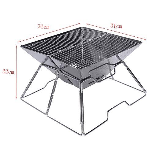 41oRuMDOx8L. SL500  - Outdoor Grill Grill Rack Folding Edelstahl Tragbare Wohnküche Camping Kochutensilien, Grillzubehör