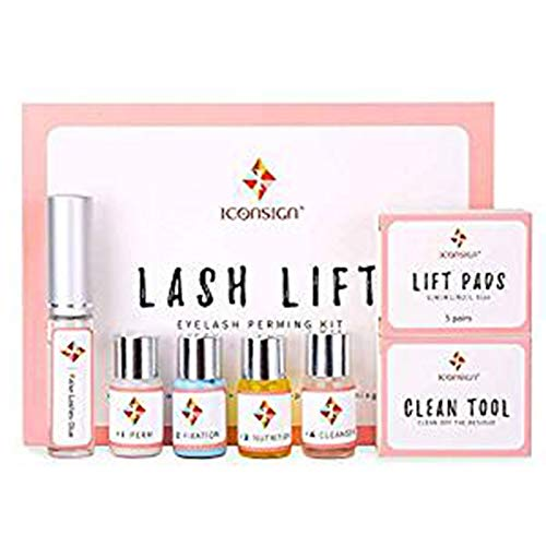 Iswell Eyelash Lift Kit, Eyelash Perm Kit Professional Eyelash Lash Extensions Lash Salon Beauty Perm Lotion Semi-Permanente Curling Perming Wave Adecuado para salón