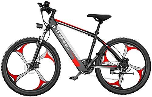 Bicicleta de montaña eléctrica, Bicicleta eléctrica de 26 pulgadas para adultos, bicicleta eléctrica de neumáticos de grasa para adultos de nieve / montaña / playa ebike con batería de iones de litio