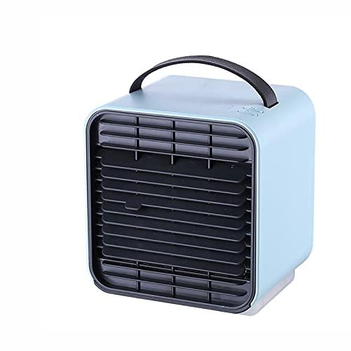 Hou Hexin Trade Tragbare Fan Klimaanlage Luftbefeuchter Persönliche Klimaanlage Mobilkühler Mini, USB-Lüfter Luftbefeuchter Reiniger für Büroschlafzimmer Luftkühler 3 Geschwindigkeit (Farbe : Blue)