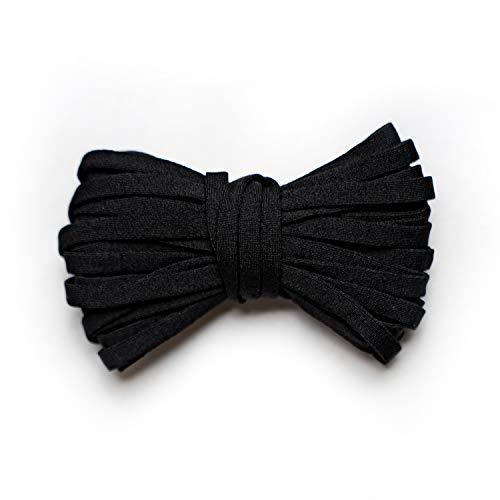MAGATI Gummiband - elastische runde kochfeste Gummikordel zum Nähen, Basteln von DIY Community-Masken, Behelfsmasken, Mund-Nasenbedeckungen (Schwarz, 20m x 5mm)
