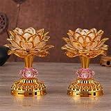 CCChaRLes 52 Canciones Budistas Lámpara De Oración Budista Con Coloridas Decoraciones De Regalo De Luz De Loto Led De Música - Oro