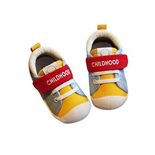 DEBAIJIA Lauflernschuhe Babyschuhe 1-4 Jahre Kinder Schuhe Kleinkind Jungen Mädchen Weiche Sohle rutschfeste Segeltuch Atmungsaktiv Leichte Klett Turnschuhe Draussen