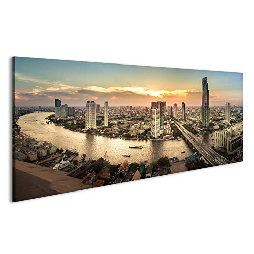 islandburner Bild Bilder auf Leinwand Bangkok City Thailand Skyline Poster, Leinwandbild, Wandbilder