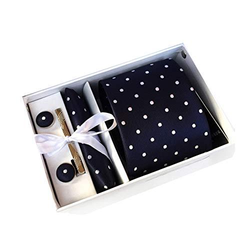 XdiseD9Xsmao 5-delig set mannen manchetknopen stropdasdoek dasspeld cadeauset 5#