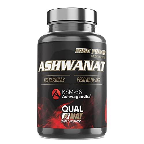 Thermogene Sportergänzung   Ashwagandha-Ergänzung   Größere Muskelmasse   Mehr Energie und Vitalität   Stärkere Knochen und Gelenke   KSM-66   120 Kapseln - Qualnat