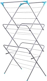 ZKKAW Folding Drying Rack, Indoor Outdoor Extendable Folding Clothes Drying Rack Radiator Airer Clothes Dryer Use for Laundry and Home Rust Resistan