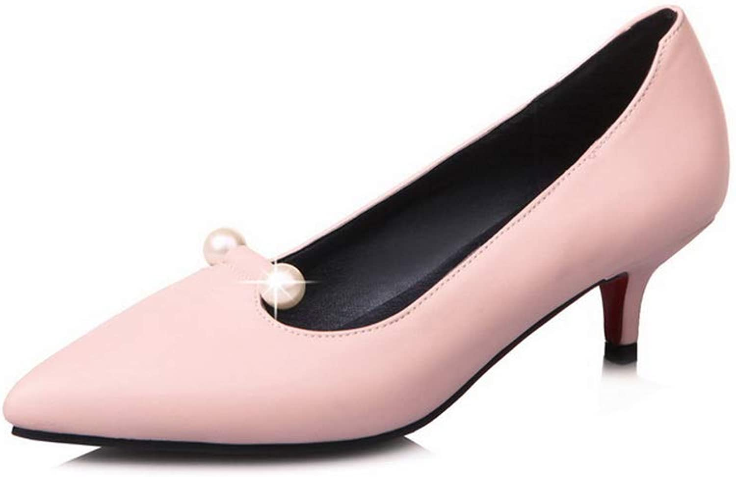 BalaMasa Womens Charms Solid Business Urethane Pumps shoes APL10447