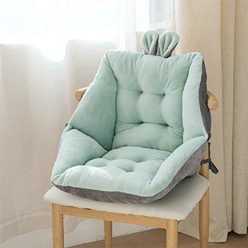 XHQI - Cuscino semi-chiuso con orecchie di coniglio, cuscino da giardino per sedie, cuscino per sedia da ufficio, comodo cuscino per sedia a uovo (verde)