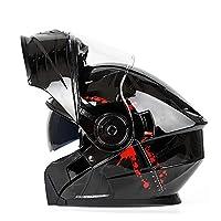 モジュラーヘルメット全能のヘルメットオートバイのフルヘルメット、サンバイザー付柔らかい内装,ファッションフルフェイスヘルメット 男女兼用 フルフェイスヘルメット オートバイヘルメット B,55~62CM