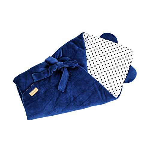 SERIMANEA Manta de terciopelo para bebé, muy suave, saco de dormir cálido para recién nacidos, regalo para baby shower, ideal para la alimentación