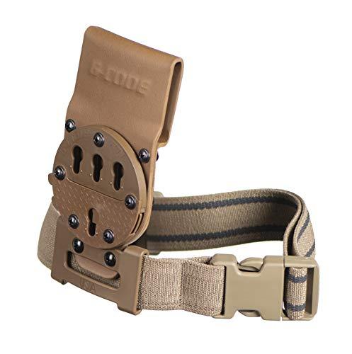 G-CODE Optimal Drop Pistol Platform-GCA200- (RTI with Leg Strap/Plastic Buckle) (TAN) 100% Made in The USA