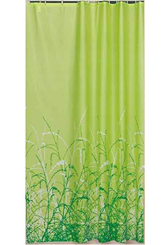 EDLER Textil Duschvorhang 220 x 200 cm EINTEILIG Grüne Garten