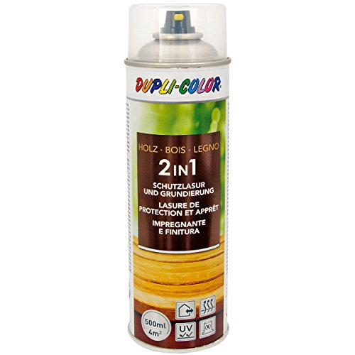 Dupli-Color 391545 Spray Transparent Holzschutzlasur 500 ml