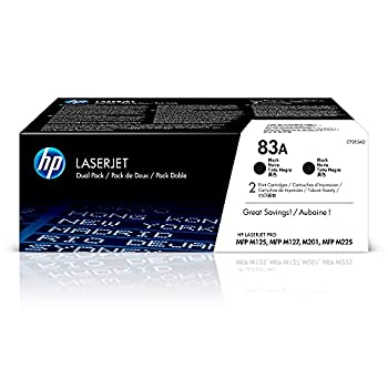 HP 83A | CF283AD | 2 Toner-Cartridges | Black | Works with HP LaserJet Pro M201dw M125nw M127fn M225 series