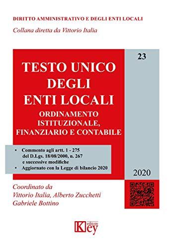 Testo unico degli enti locali. Ordinamento istituzionale, finanziario e contabile: 23