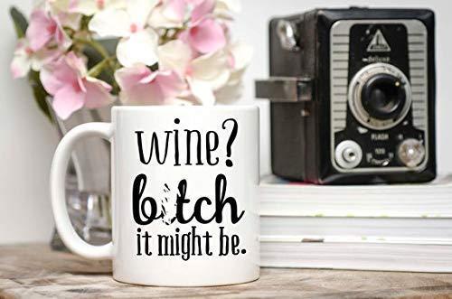 N\A Taza madura Regalo del Amante del Vino Esto podría ser una Taza de Vino Taza de Vino Divertida Taza de Vino
