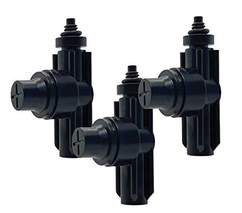 Drip&Fresh C5125-3 - Válvula anti goteo para sistemas de nebulización de agua. Pack de 3 unidades. Compatible con todas las toberas 10/24 de baja presión. Evita el goteo de las instalaciones