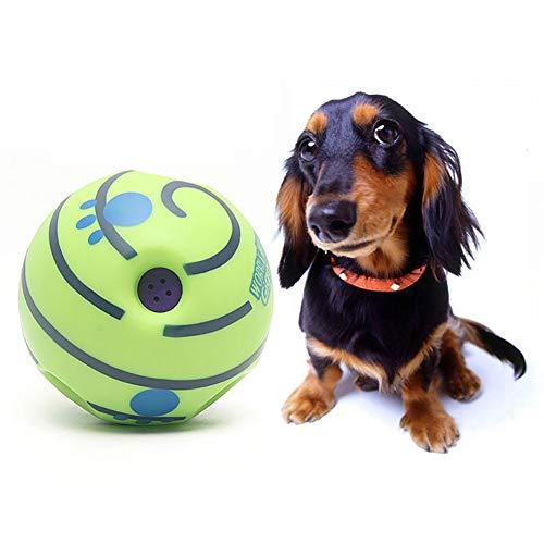 Hundespiel Quietschender Ball Wackeln Wag Kichern Haustier-Trainingsspielzeug Backenzahnspielzeug Hoher Sprung Mit Lustigem Sound Interaktives Hundespielzeug Mit Kichernden Geräuschen,14cm