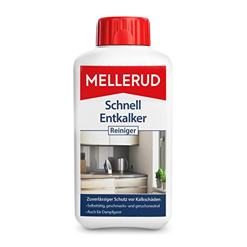 MELLERUD Schnell Entkalker Reiniger – Wirkungsvolles Mittel zur Entkalkung der Haushaltsgeräte wie Wasserkocher, Kaffeemaschinen u. v. m. – 1 x 0,5 l