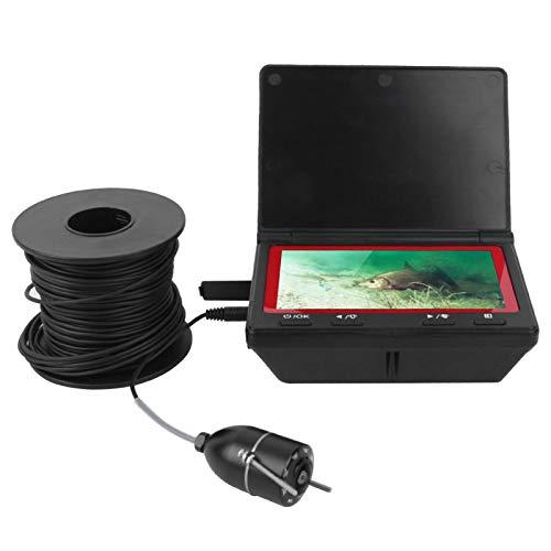 Yivibe Cámara subacuática, Soporte extraíble Buscador de Profundidad de Peces Pantalla IPS Impermeable con batería de 2600 Ma/H para Pesca en Barco para Pesca en mar en Hielo(Normativa Europea)