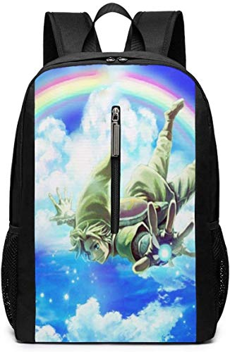 BAGGNICE Rucksäcke Daypacks Taschen, The Legend of Zelda 17 Inch School Bag Backpack College Bag Laptop Backpack Large Capacity Backpack (Black)