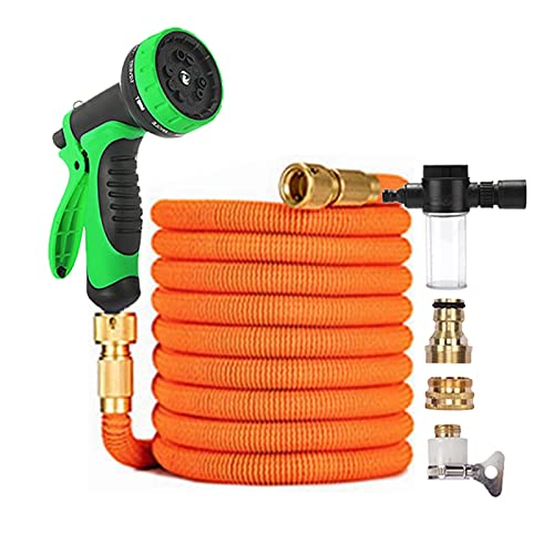 """Tuinslang Tuin Watergevende slang, telescopische flexibele carwash slang met schuimtank spray set geschenk (Color : Light Green, Diameter : 1/2"""")"""