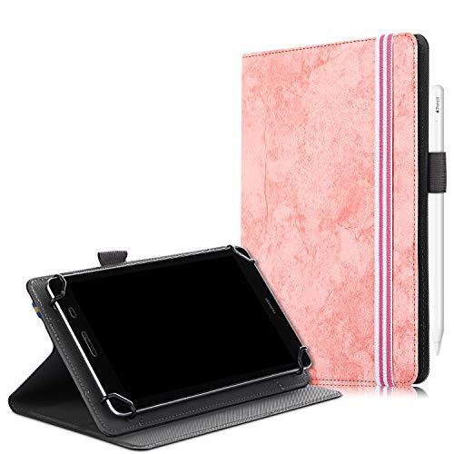 RLTech Universal Hülle für 8 Zoll Tablet, Flip Lightweight Etui Hülle Cover Tasche Schutzhülle für Vankyo MatrixPad S8, Lenovo M8 TB-8505F/TB-8505X (Rosa)