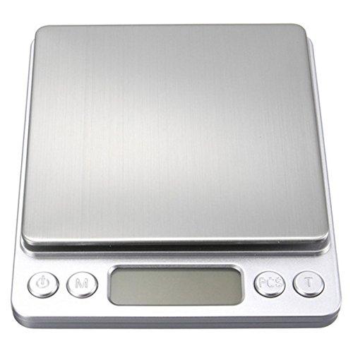 LKXHaryela - Báscula Digital de Bolsillo de Alta Precisión, 0,1 g/0,01 g, 500 – 1000 g, con Bandeja y Escala de Peso para Cocina, Joyería electrónica
