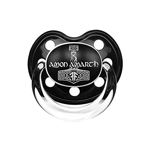 Amon Amarth (Thors Hammer) - Schnuller, schwarz, Größe Größe 1 (0-6 Monate), offizielles Band-Merch von Metal Kids