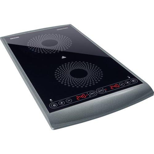Sencor SCP 5404GY Plaque de cuisson à induction double zone - 2900W - diamètres de 145 et 167 mm - Contrôle de la température entre 60 et 240°C par étape de 20°C