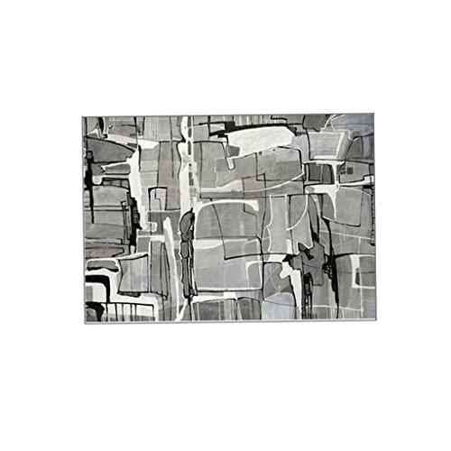 Nordic Living Room Canapé lit Chambre à Coucher, Table Basse recouverte de Tapis de Sol, Simple Moderne, rectangulaire, Accueil, Lavage en Machine, antidérapant, Gris. (Size : 120 * 160cm)