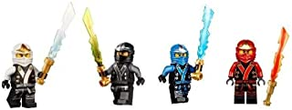 LEGO Ninjago Final Battle Kimono Ninja's set of 4 - Cole, Jay, Kai, Zane minifigures (Each with Elemental Sword)