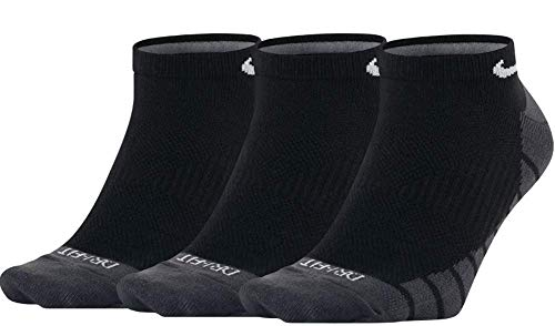 Nike Calcetines Dry Lightweight No-Show Training (3 Pair) Negro/carbón/Blanco Talla: 38 al 42 EU I 6-9 USA I 5-8 UK