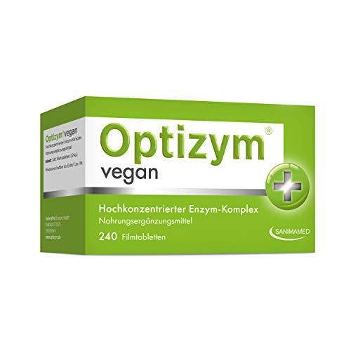 OPTIZYM Vegan Enzym-Komplex I 6-fach Enzyme (Bromelain, Papain, Protease, Lactase, Amylase, Lipase) Hochdosiert digestive Verdauungsenzyme - 240 Tabletten