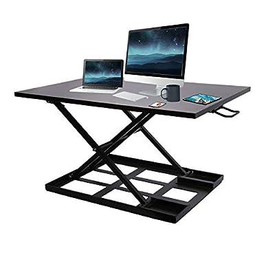 Standing Desk Converter?32 inch Adjustable Height Desktop for Laptop & Computer Monitors?Sit-Stand Laptop Riser Workstation for Home and Office