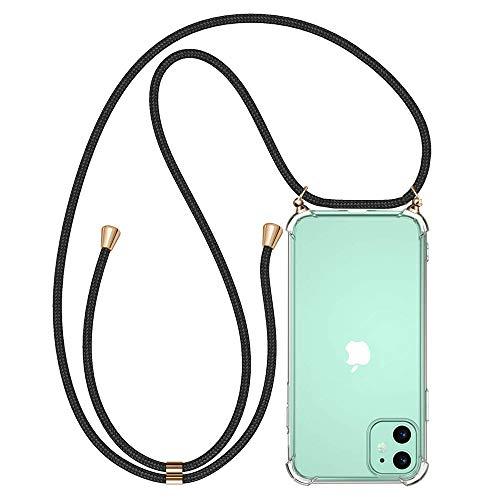 KKTICK Handykette kompatibel mit iPhone 11, Handyhülle iPhone 11 mit Kordel zum Umhängen Necklace, Hülle Handy-Kette Schutzhülle mit extra Fallschutz Stoßdämpfer Case Cover für iPhone 11 (6.1\'\')