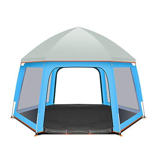 ALTINOVO Carpa de Camping Familiar, Puede Vivir 2-3 Personas Impermeable Ventilado Adecuado para el Recorrido de Playas del Parque,Blue