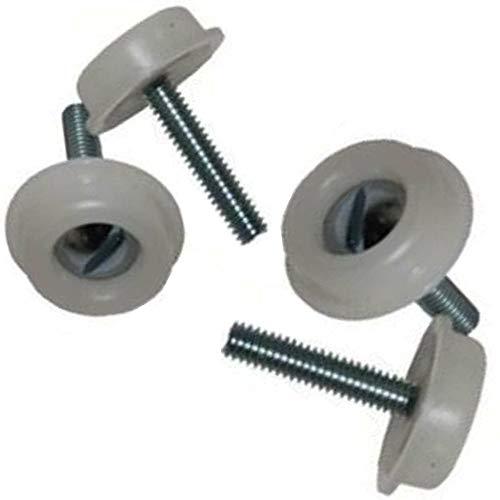 4x Kopfteil-Schrauben mit Kunststoff-Unterlegscheiben für Diwan / Liegen / Liegesofas