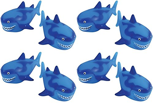 US Toy Shark Water Squirter Pool Beach Bath Toys - Pack of 12