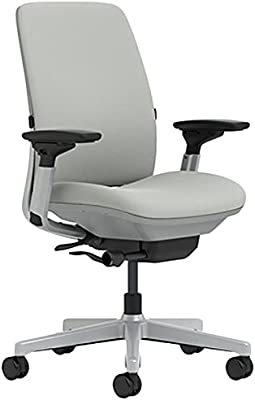 Steelcase Amia Chair with Platinum Base & Standard Carpet Casters, Nickel