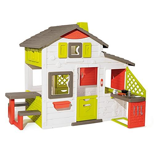 Smoby- Casita Infantil Neo Friends House Con Cocina, 1,72m de Alto, 2 Puertas de...
