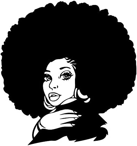 JUEKUI African Woman Wall Sticker Home Decorations Sexy Art Beauty Hair Salon Decor Vinyl Murals product image