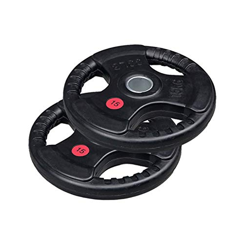 Lions Rubber Coated Cast Iron Olympic Weight Plates Home Gym Barbell Bar Weights Training 2' Discs Bar Hole Power Lifting (1x 20kg = 20kg)