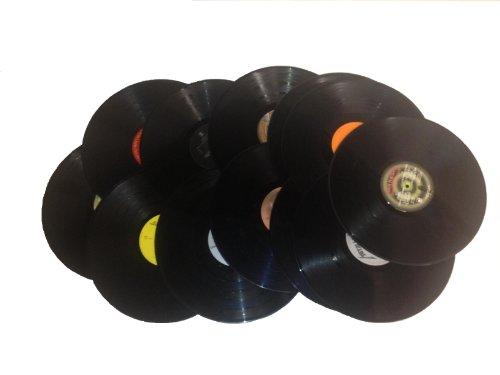 "(12) 12"" Vinyl Records for Arts & Crafts Decoration - 1980's"