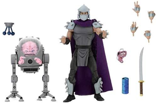 cheaaff FJKYF Anime Model Statue2Pcs / Set Us Aktionen Cartoon Figuren Shredder Krang Boss Turtles Spielzeug für Kinder Geburtstagsgeschenk 18Cm
